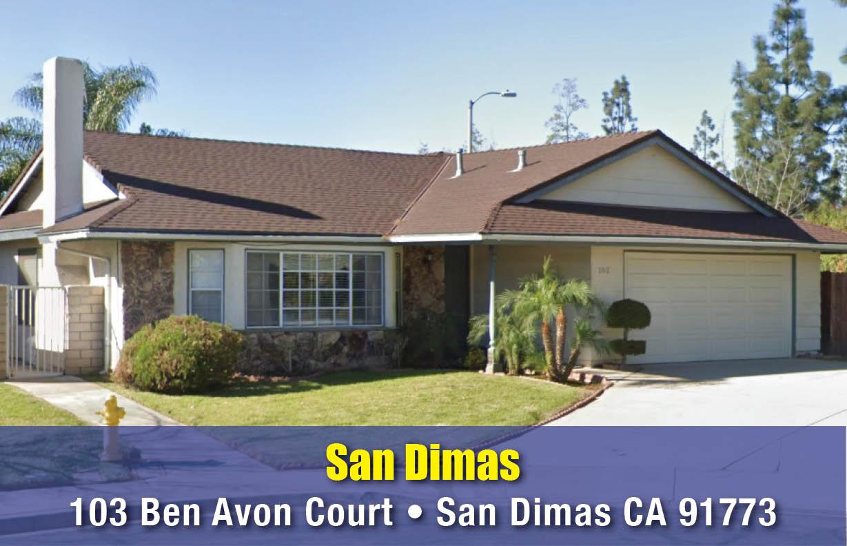 103 Ben Avon Court • San Dimas CA 91773